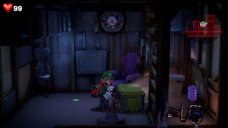 Image showing the Purple Gem location in Room 507 bathroom.