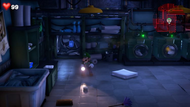 Image showing the location of the Blue Gem in the Laundry Room in RIP Suites.
