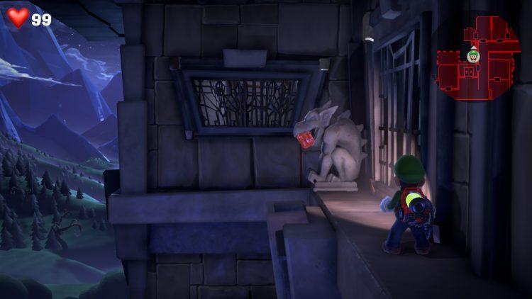 Image showing the Red Gem Gargoyle in Room 501.