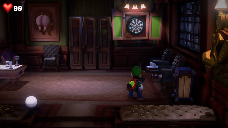 Image showing the location of the Purple Gem in the Billiard room.