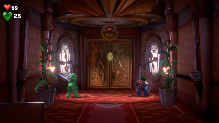 Yellow Gem Location Hallway By Billiard Room 750x422 - Luigi's Mansion 3 - Guida: come trovare tutte le gemme dei piani 1 e 2