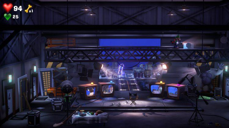 Blue Gem Location Frozen Block on Rafters Backstage 750x422 - Luigi's Mansion 3 – Guida: dove trovare tutte le gemme dei piani 7 e 8