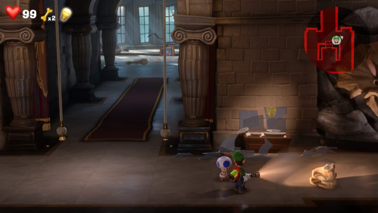 Yellow Gem Location Display Case in Elevator Hall 750x422 - Luigi's Mansion 3 – Guida: dove trovare tutte le gemme dei piani 9 e 10
