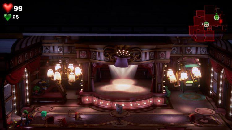 Green Gem Location Lounge 750x422 - Luigi's Mansion 3 – Guida: dove trovare tutte le gemme dei piani 11 e 12