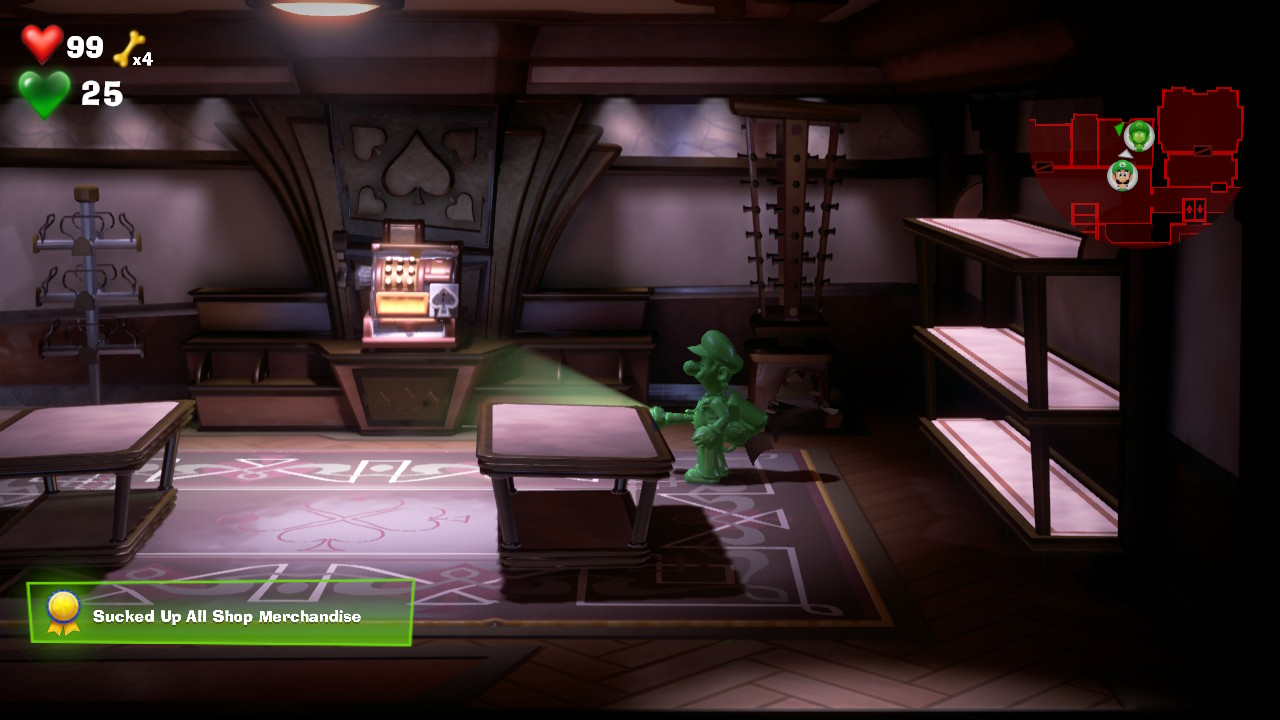 Luigi S Mansion 3 Sucked Up All Merchandise In The Hotel Shops