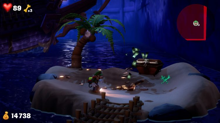 Image showing the Green Gem Location Chest Hidden on Beach.