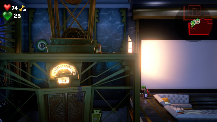 Image showing the Purple Gem Location: Elevator in Lounge.