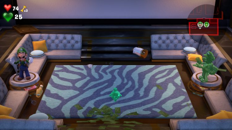 Image showing the Green Gem Location: Hidden Cabinet in Lounge.