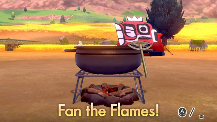 Image showing how to cook in Pokemon Sword and Pokemon Shield.