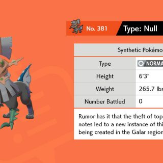 Featured image on Where to Get Type Null in Pokemon Sword and Pokemon Shield guide