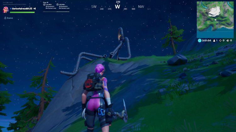 Image showing the Pipeman location in Fortnite Battle Royale.