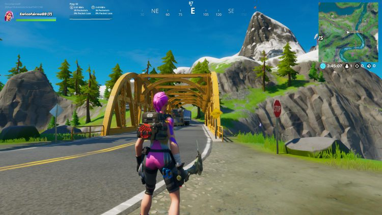 Image showing the Yellow Bridge in Fortnite.