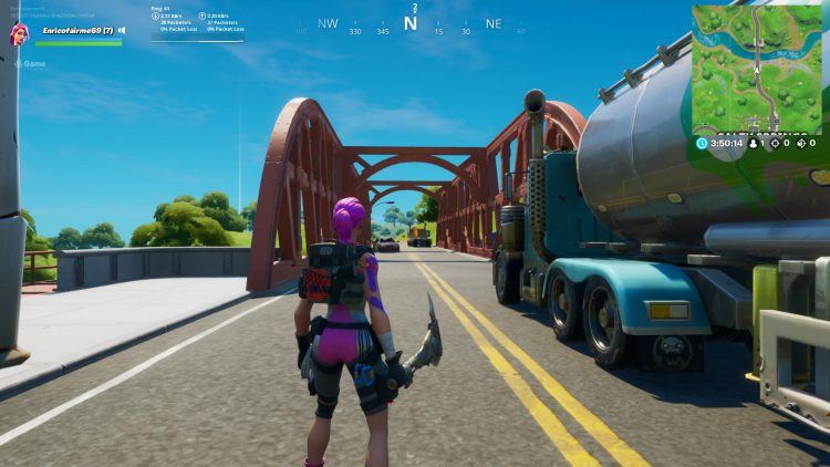 Image showing the Red Bridge location in Fortnite.