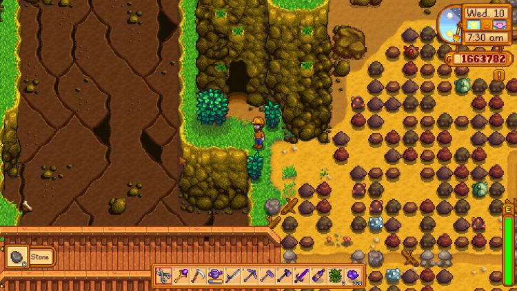 Image showing the entrance to the Quarry Mine in Stardew Valley.