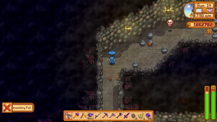 Image showing the Haunted Skull enemies in Stardew Valley.