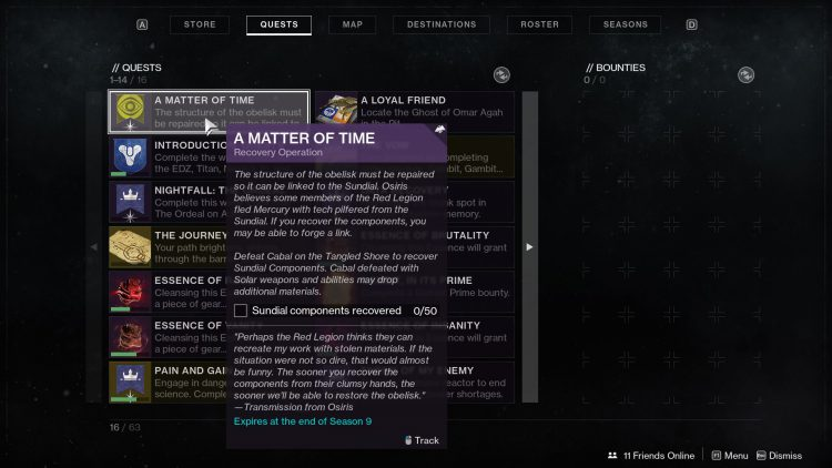 Image showing the Recovery Operation quest step in Destiny 2.