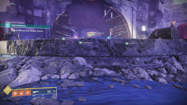 Image showing a portion of The Sundial event in Destiny 2.