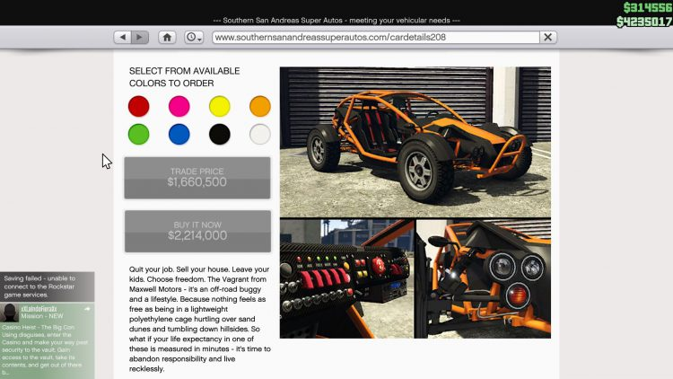 Image showing the Maxwell Vagrant in GTA Online.