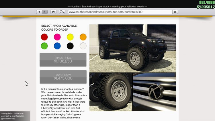 Image showing the Karin Everon in GTA Online.