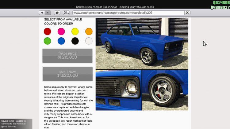 Image showing the Vapid Retinue Mk II in GTA Online.