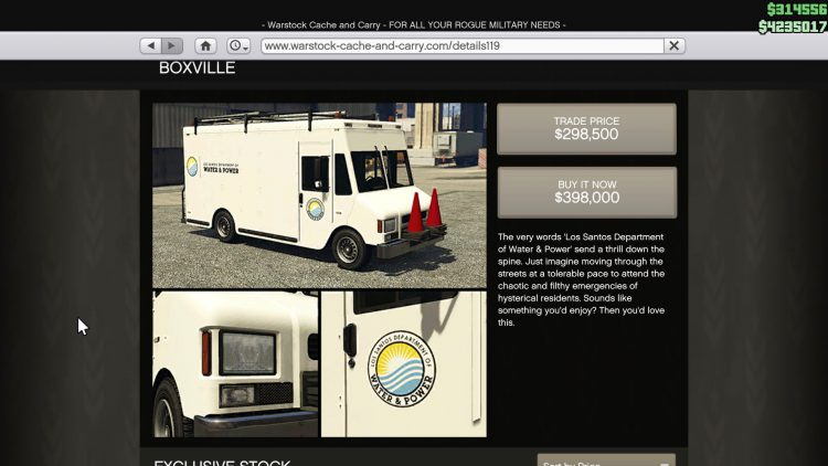 Image showing the Boxville in GTA Online.