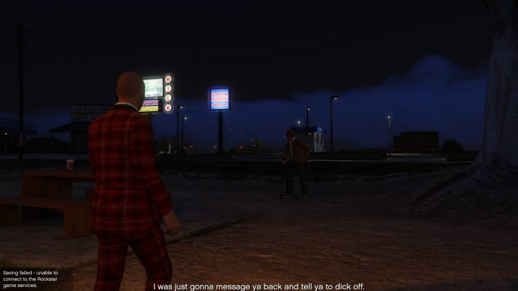 Image showing meeting Lester in Mirror Park in GTA Online.