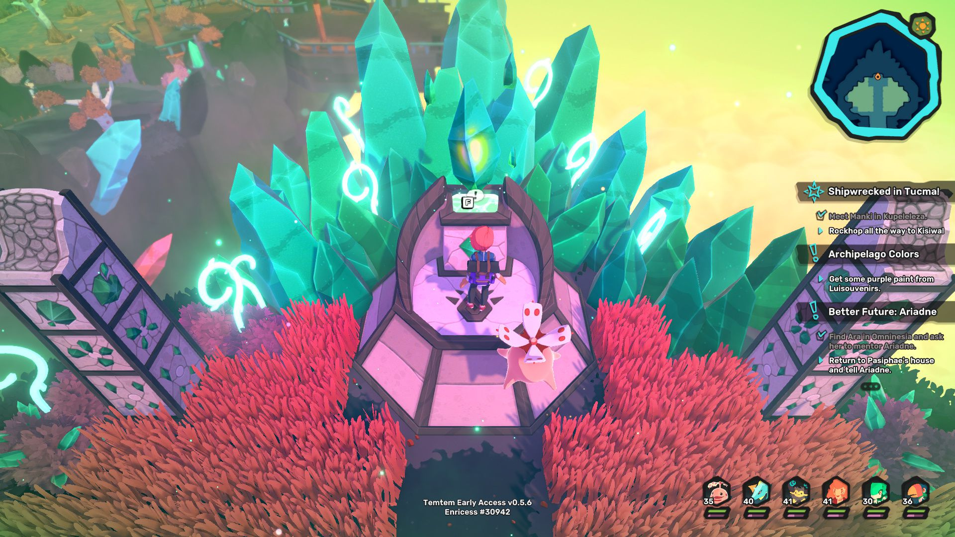 Image showing how to evolve Tuwai into Tuvine at Place of Power in Temtem.