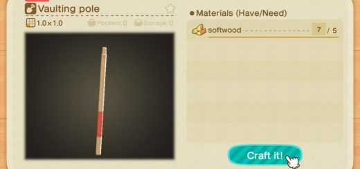Featured image on How to Make a Vaulting Pole guide for Animal Crossing New Horizons