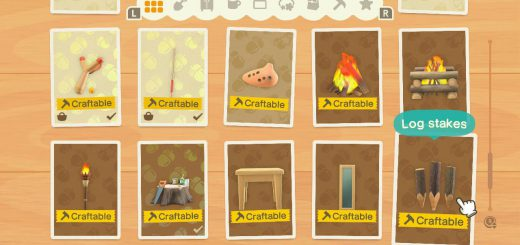 Featured image on How to Craft Log Stakes guide for Animal Crossing New Horizons