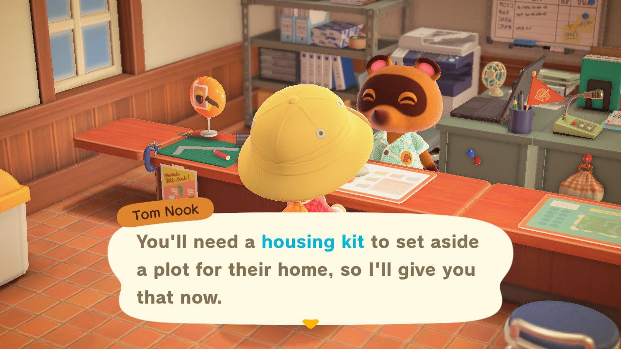 Image showing how to get the Housing Kit in Animal Crossing New Horizons.