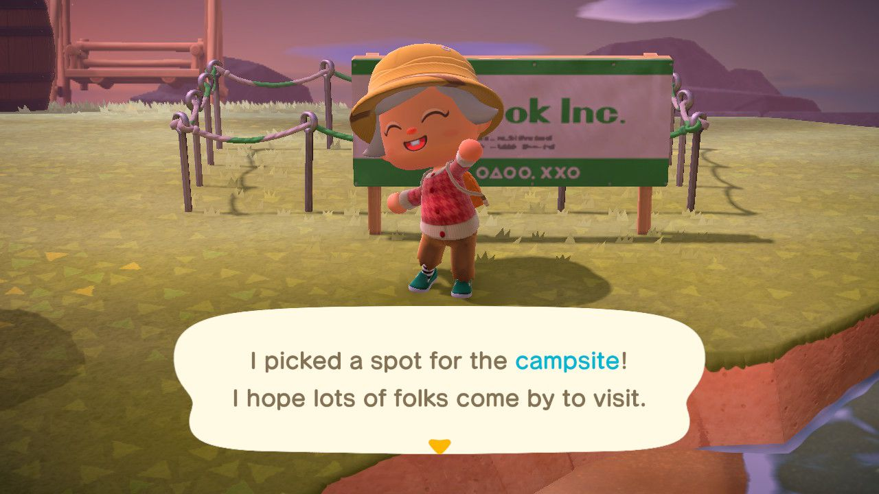 Image showing how to build a campsite in Animal Crossing New Horizons.