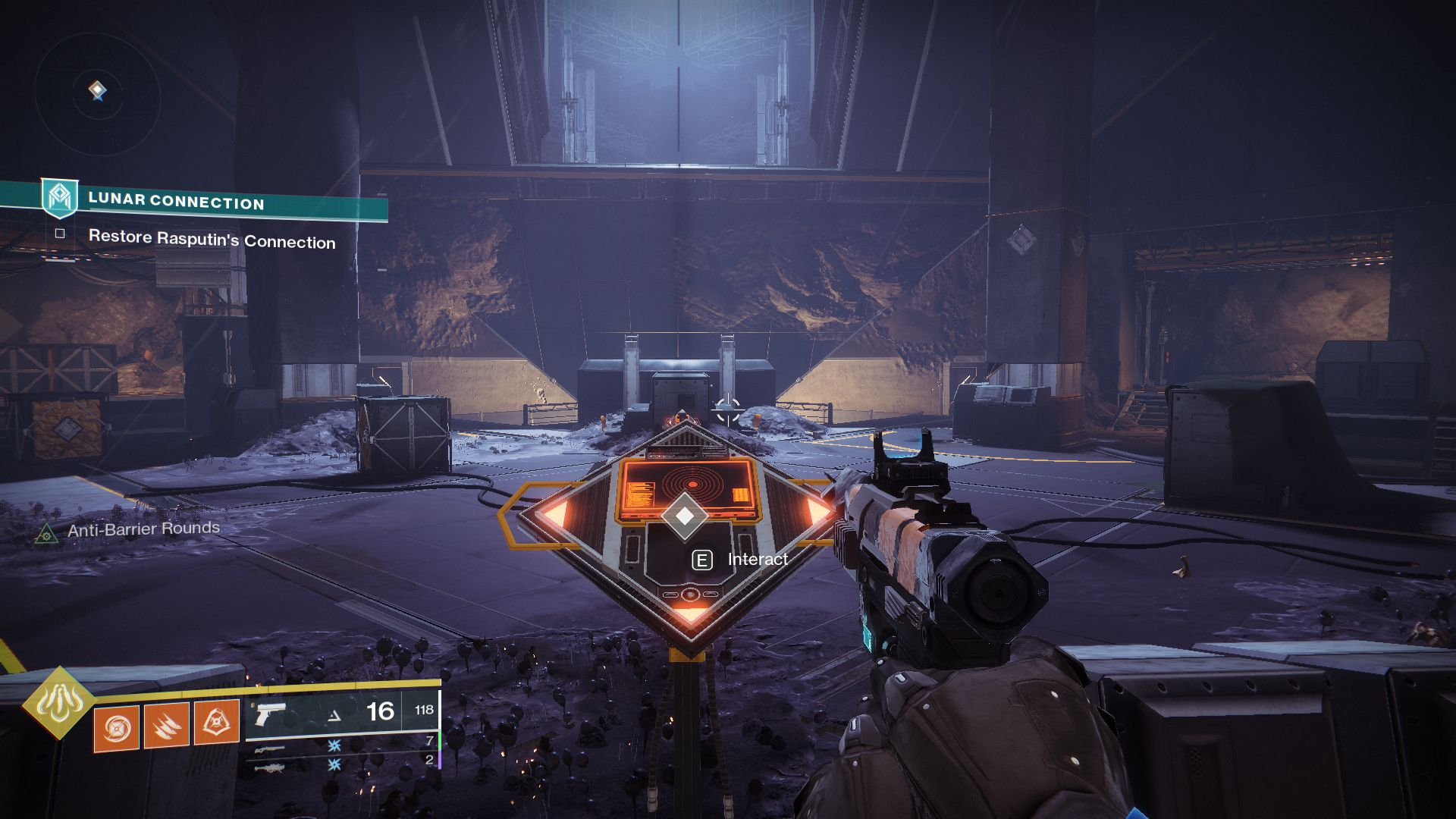 Image showing how to complete the Moon Bunker Buster in Destiny 2.