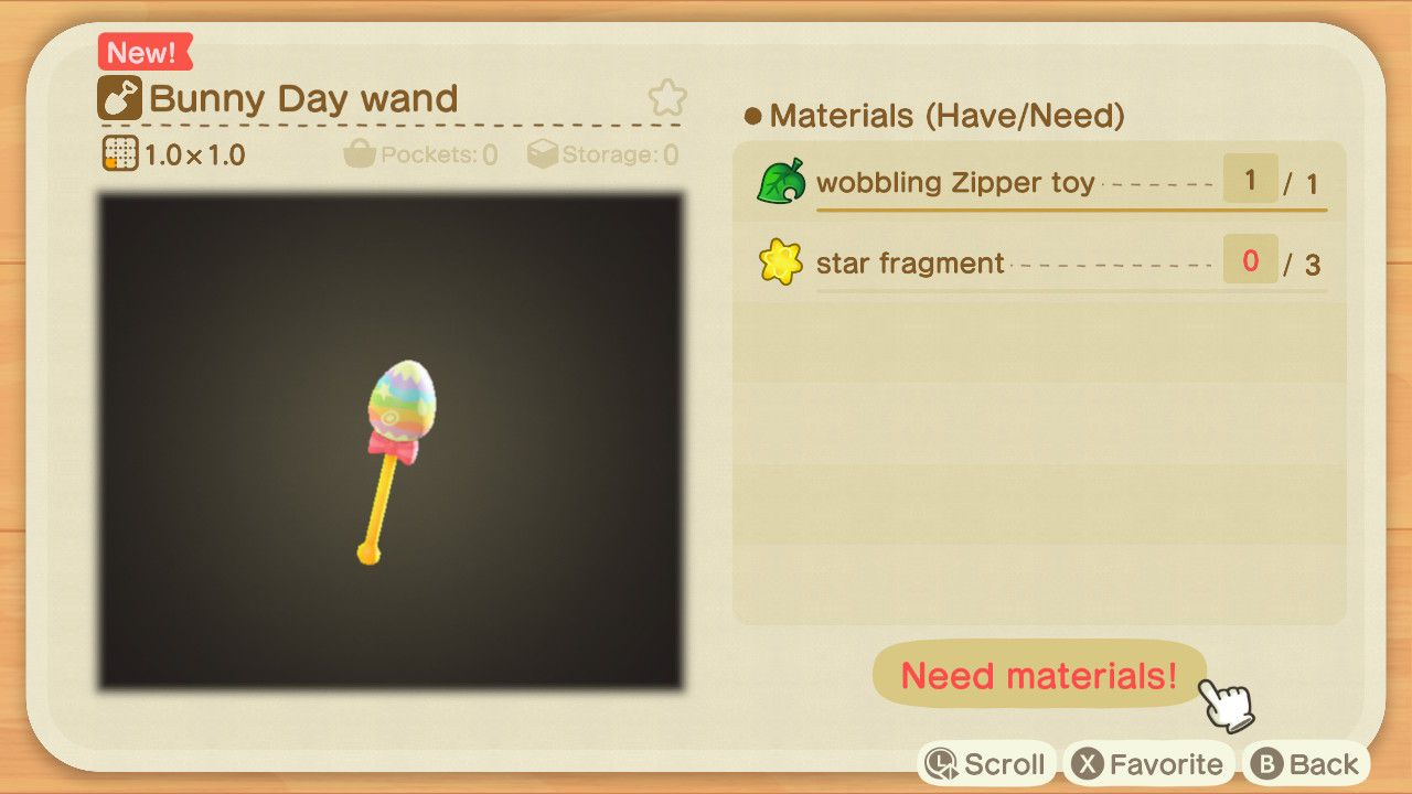 Bunny Day Wand - Animal Crossing: New Horizons - Progetti caccia all'uovo