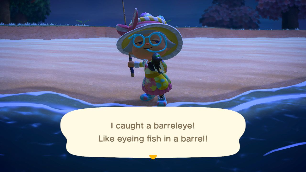 Image showing the Barreleye caught in Animal Crossing New Horizons.