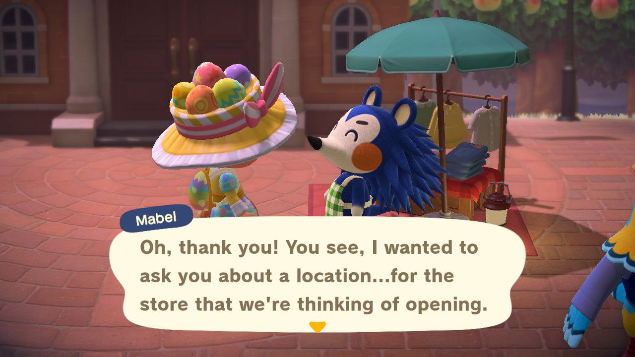 Image showing how to open the Able Store on your island.