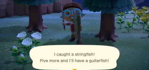 Featured image on Animal Crossing New Horizons How to Catch Stringfish guide
