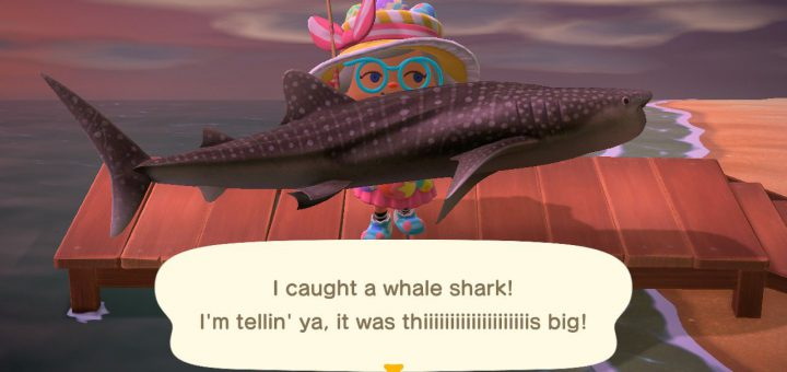 Featured image on Animal Crossing New Horizons How to Catch Whale Shark guide