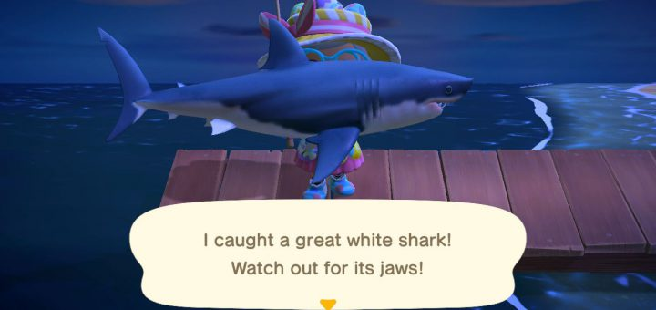 Featured image on How to Catch Great White Shark for Animal Crossing New Horizons