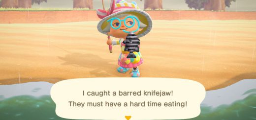 Featured image on Animal Crossing New Horizons How to Catch Barred Knifejaw guide