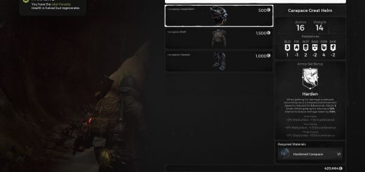 Featured image on How to Get the Carapace Armor Set guide