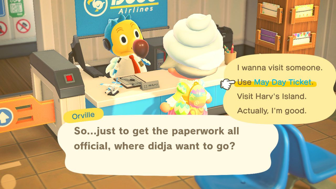 Image showing the May Day event in Animal Crossing New Horizons.
