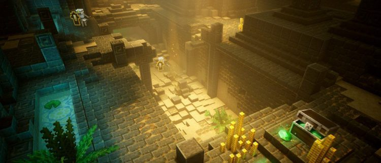 Image showing a dungeon in MInecraft Dungeons.