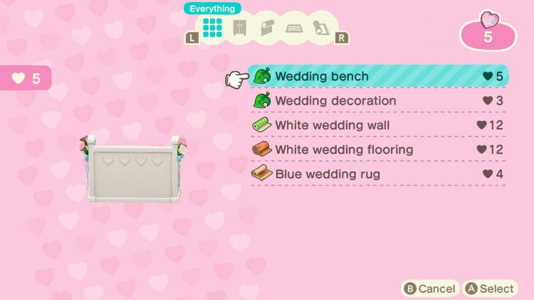 Image showing what to do with Wedding Crystals in Animal Crossing New Horizons.