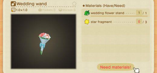 Featured image on Animal Crossing New Horizons All Wedding Seasonal Event Items list