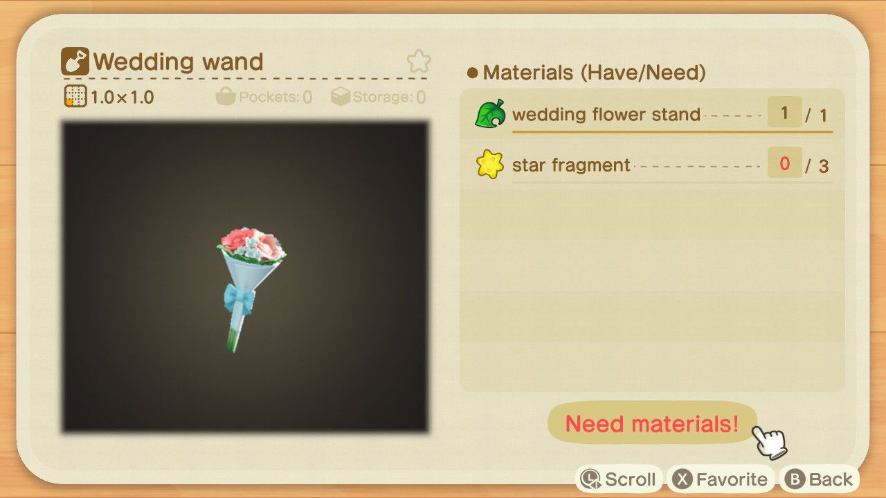 Image showing the Wedding Wand in Animal Crossing New Horizons.