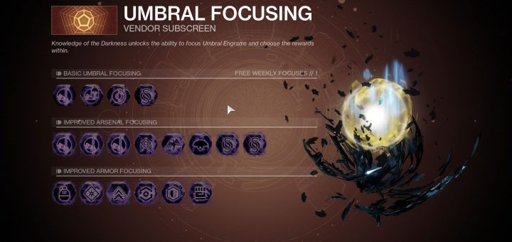 Featured image on Destiny 2 Prismatic Recaster Umbral Focusing list