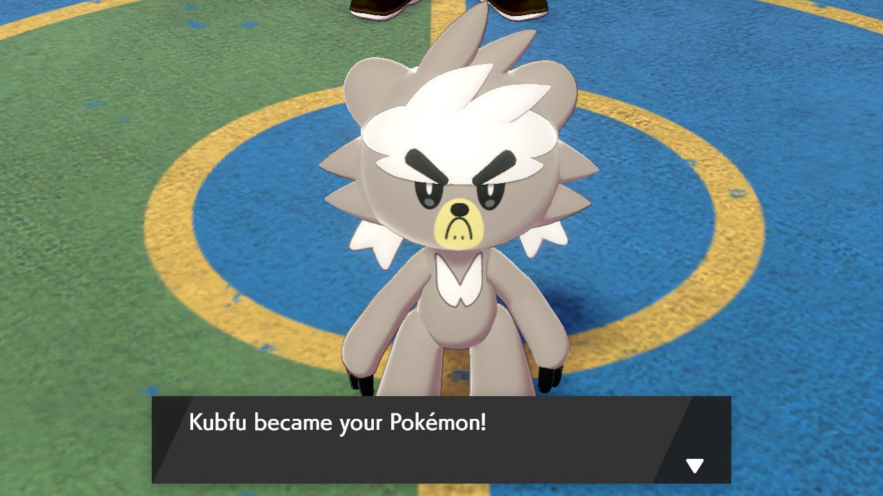 Image showing where to get Kubfu in Pokemon Sword and Pokemon Shield in  Isle of Armor.
