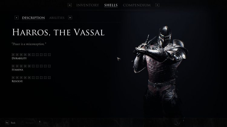 Image showing the Harros, the Vassal shell in Mortal Shell.