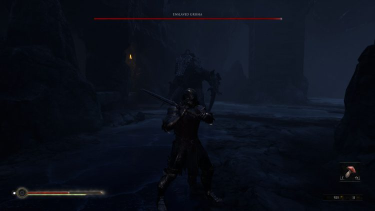 Image showing the Enslaved Grisha boss in Mortal Shell.