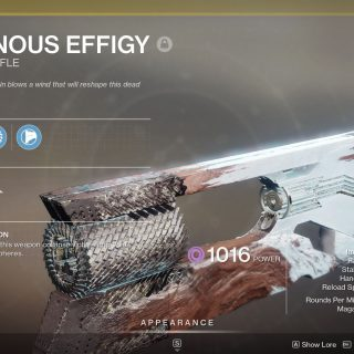Featured image on Destiny 2 Ruinous Effigy Exotic Trace Rifle Perks and Traits guide
